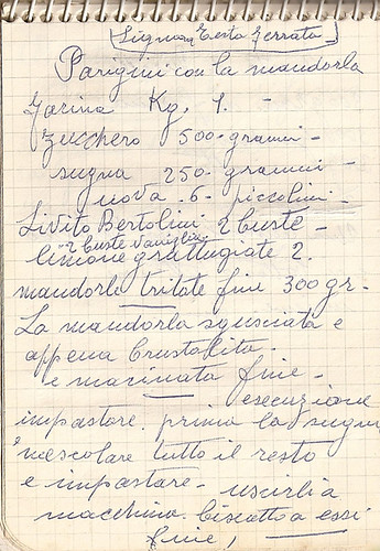 Dal quaderno di nonna maria parigini con la mandorla for Ricette romane antiche