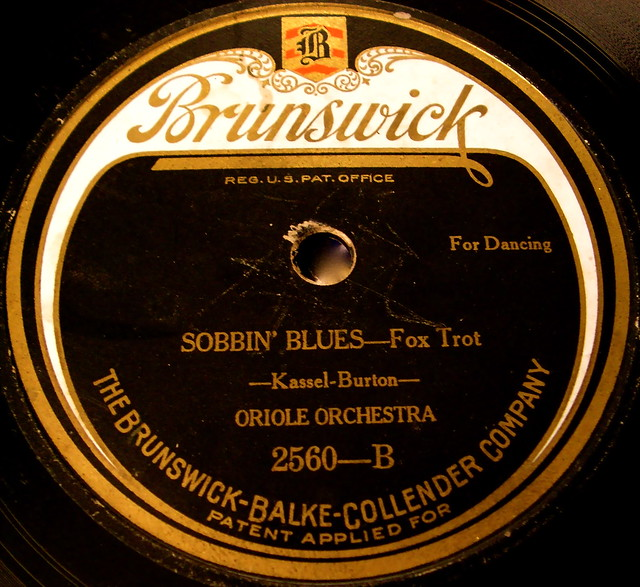 Sobbin 39 blues on a vintage brunswick record label flickr for Classic house record labels
