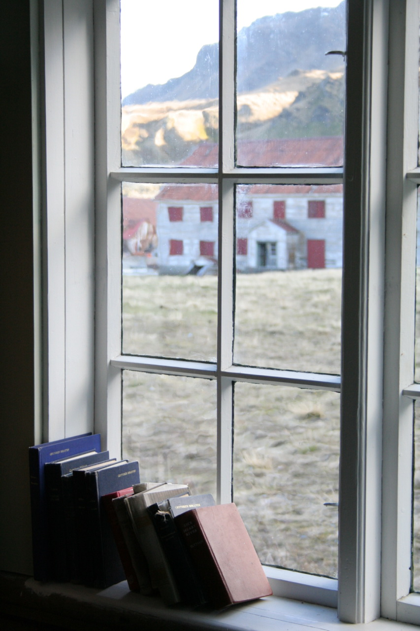 Grytviken church window