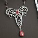Ruby Vine Pendant Necklace