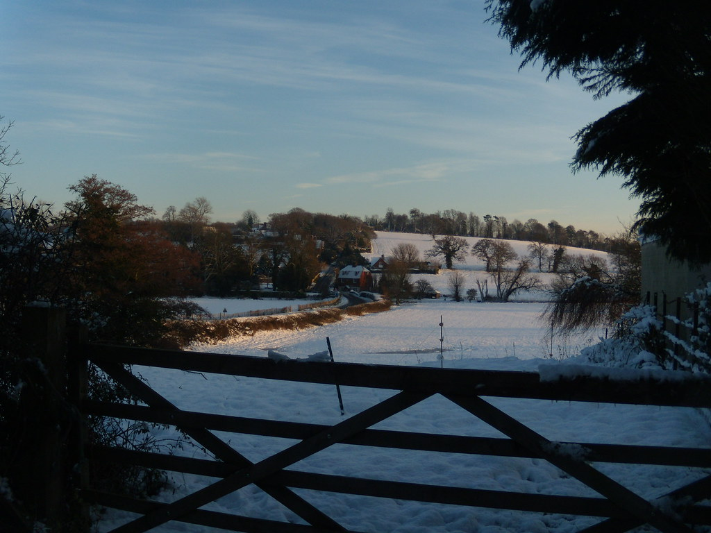 View with gate Hever to Leigh