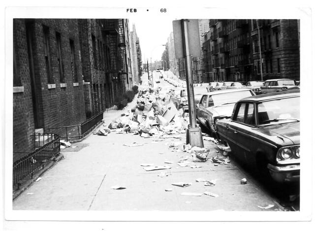 Anderson Ave garbage strike 1968