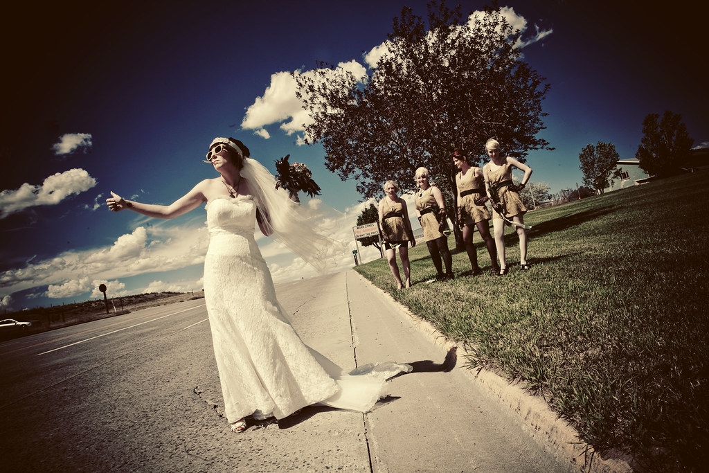 Hitchhiking bride