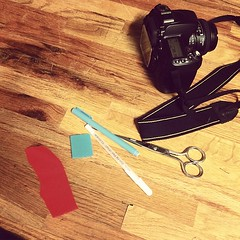 Tools of the trade. Working on an unwieldy improv piece tonight so I'm using the design floor. #gravityforthewin
