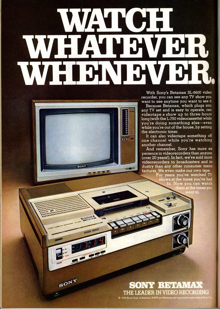Sony Betamax 1978 - Vintage Ads