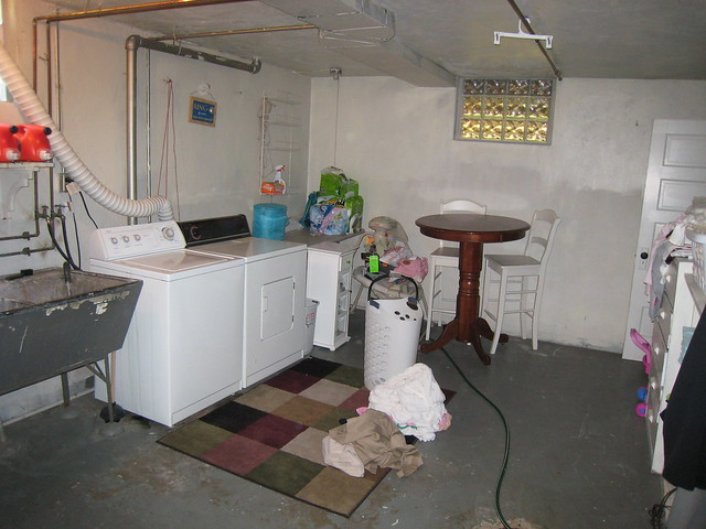 Unfinished Basement Laundry Room Flickr Photo Sharing