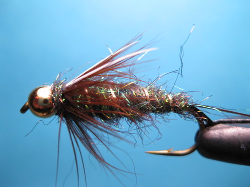 Prince nymph variation fly tying video ice dub prince for Ice fishing flies