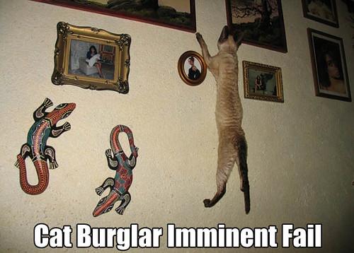 Cat burglar imminent fail