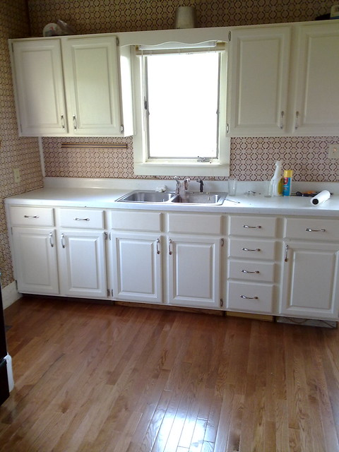 Kitchen Cabinets Redone With French Tufts