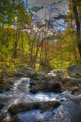 fall water leaves clouds landscape waterfall nikon stream hdr d90