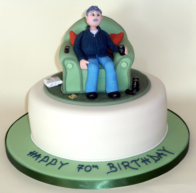 70Th Birthday Cakes for Men http://www.flickr.com/photos/cakesbyavril/4020609698/