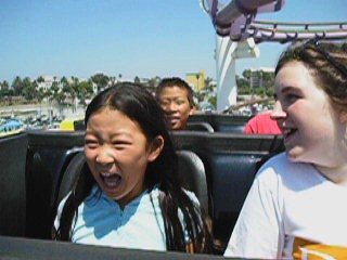 Janelle's First Roller Coaster Ride
