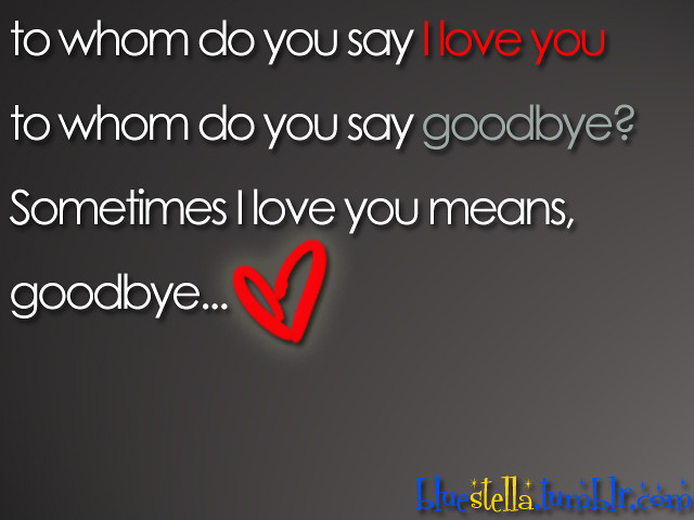 I Love You Goodbye Quotes 2009 : Flickr - Photo Sharing!