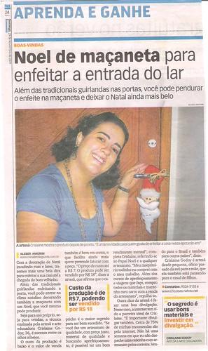 JORNAL NOTÍCIA AGORA - 29/11/2009 by Cricoisas Arte e Artesanato