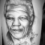 Nelson Mandela Portrait - Tattoo