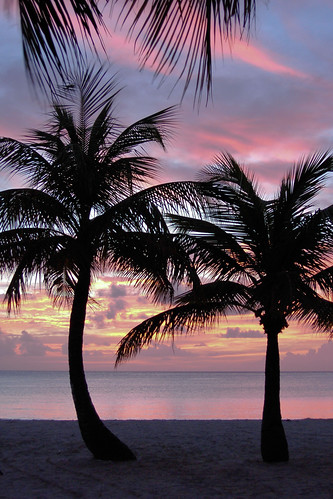 beach, sunset, Antigua