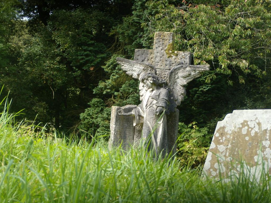 Angel in the woods Church of St John the Baptist Walliswood Ockley to Warnham