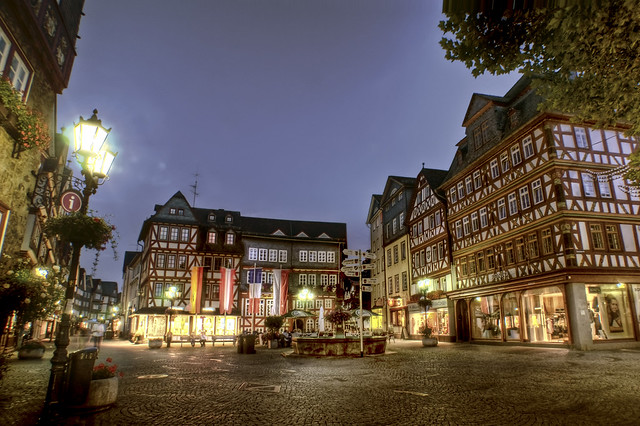 Old market place in Herborn / Germany