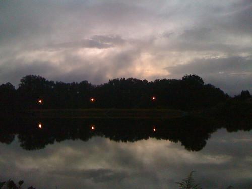 sunset lake clouds georgia iphone lakemont fayettevile