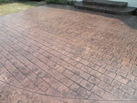 Stamped Concrete Patio Cobblestone