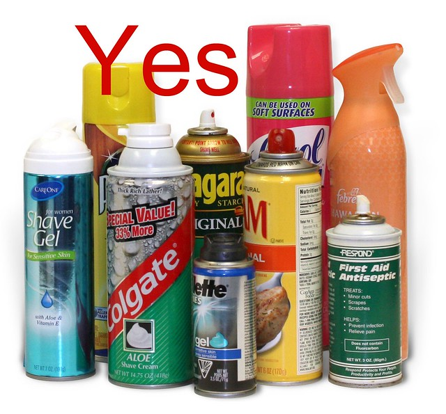 yes non hazardous aerosol cans flickr photo sharing. Black Bedroom Furniture Sets. Home Design Ideas