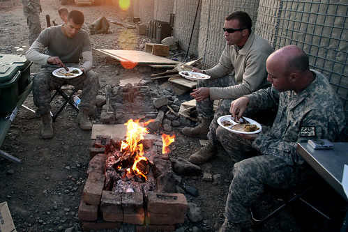 Thanksgiving on Combat Outpost Cherkatah, Khowst province, Afghanistan