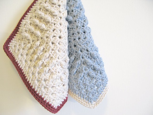 Clara and Olivia crochet dishcloths by Emma Lamb