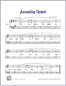 amazing grace sheet music easy