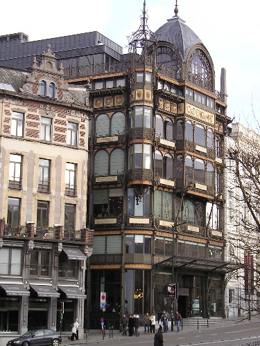 Art Nouveau style exterior of Museum of Musical Instruments, Brussels, Belgium