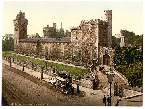 [From the southeast, Cardiff Castle, Wales] (LOC)