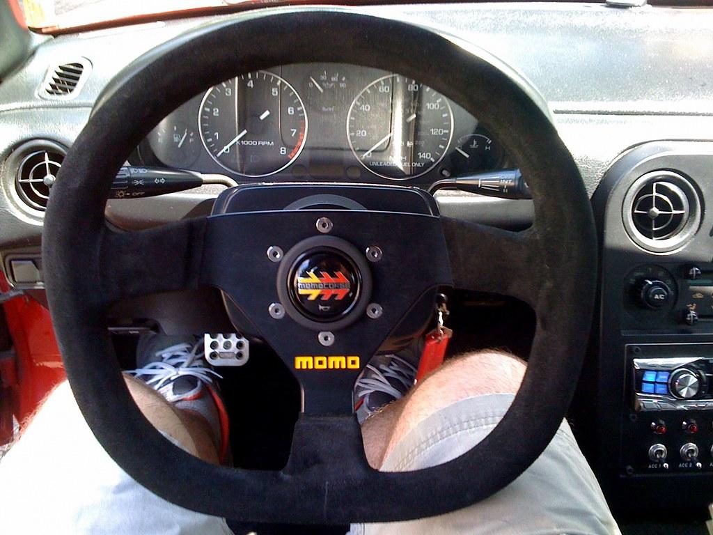 Momo Steering Wheel Suede Suede Steering Wheel