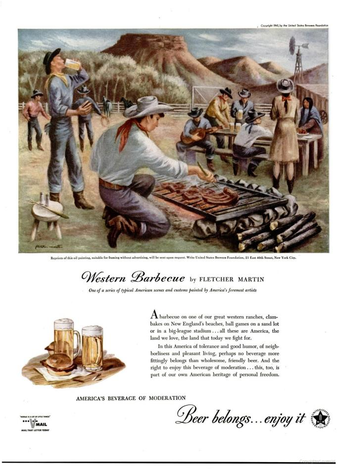 Western Barbecue by Fletcher Martin, 1945
