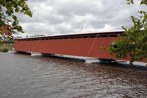 michigan september 2009 coveredbridges riversandstreams howetruss stjosephriver nrhp canon24105l stjosephcounty september2009 langleybridge michigancoveredbridges