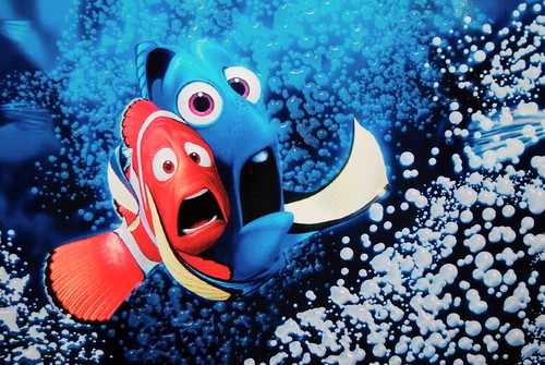 Marlon and Dorie - finding Nemo!