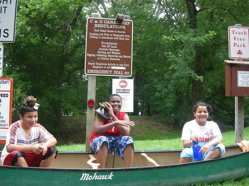 Aslan, Fabricio and Herminia at the C&O Canal in Harpers Ferry, WV