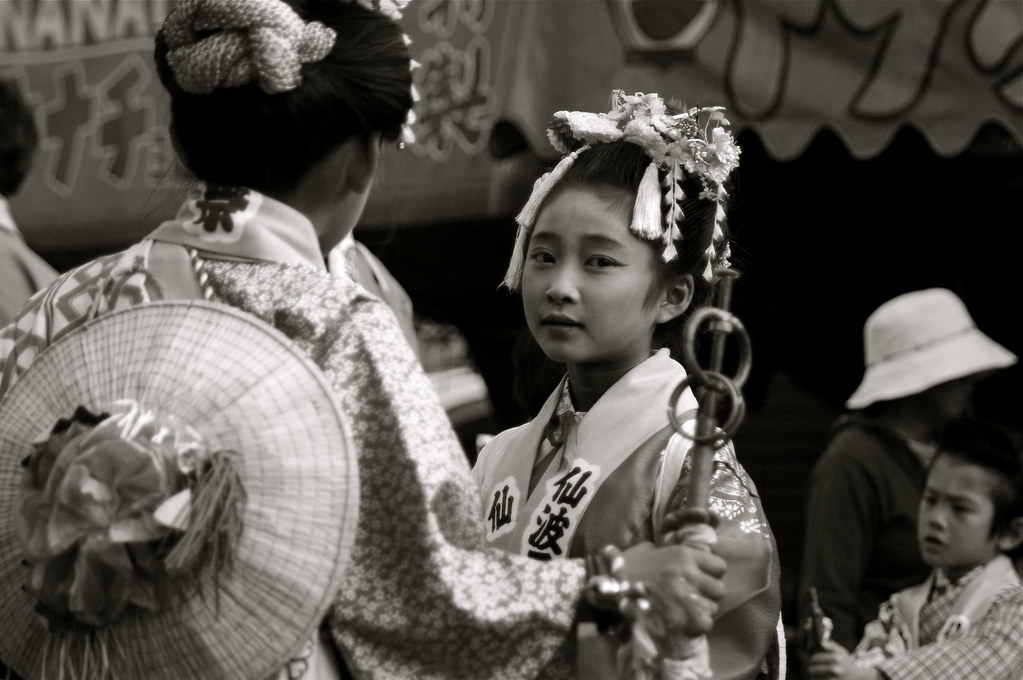 A Moment At The Kawagoe Festival, Japan