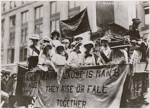 Photograph of Suffrage Parade, 1913