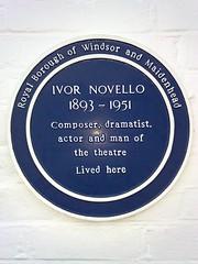 Photo of Ivor Novello blue plaque