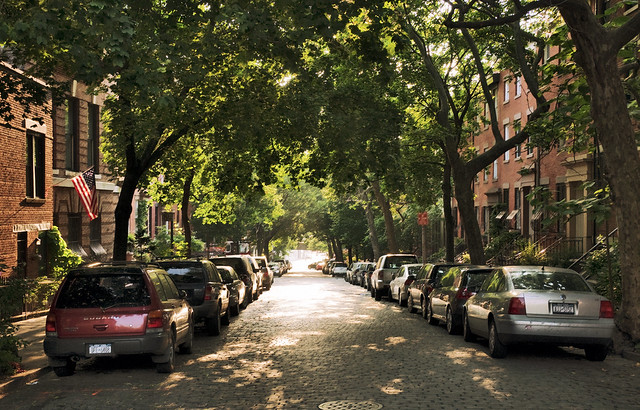 parked cars on Joralemon Street, Brooklyn Heights, New York