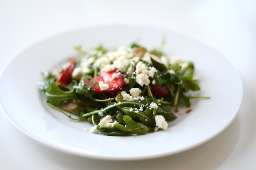 Strawberry, Asparagus, Arugula Salad