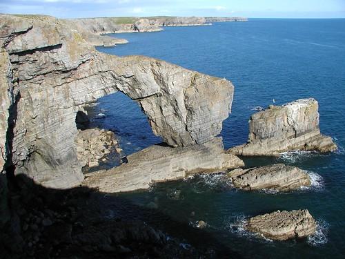 The awe-inspiring Green Bridge of Wales.
