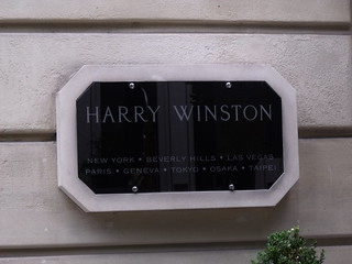 Harry Winston - 29 Avenue Montaigne - Paris - sign
