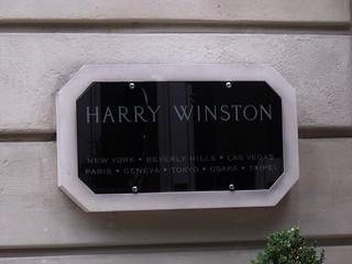 Harry Winston - 29 Avenue Montaigne - Paris - sign