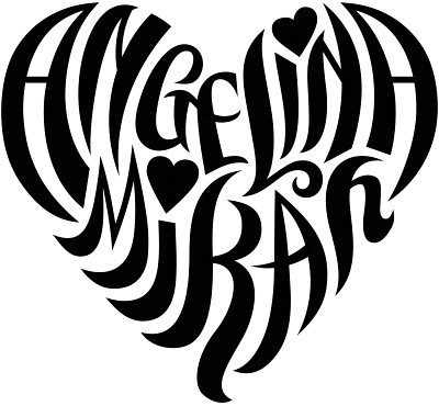 Angelina mikah heart design flickr photo sharing for Your name is tattooed on my heart