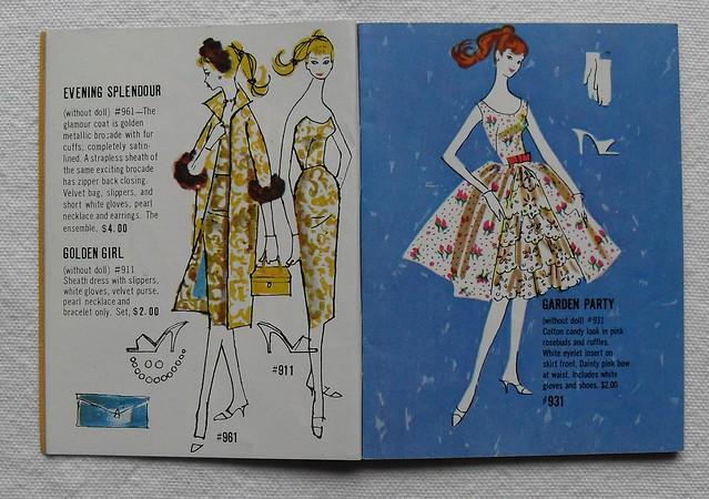 Barbie and Ken 1961 Mattel Vintage Fashion Illustration Catalogs 1960s (11)
