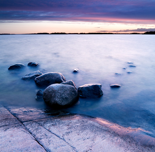 longexposure sunset cliff rock twilight rocks calm crisp lauttasaari vertorama