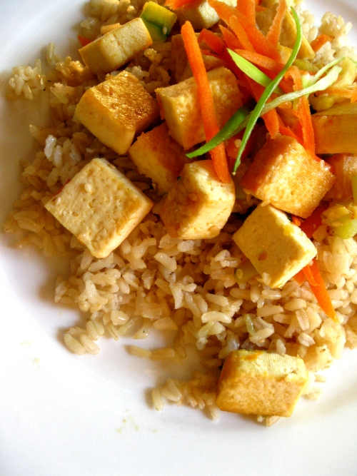 Sauteed Tofu and Brown rice Stir fry - Acquired Life