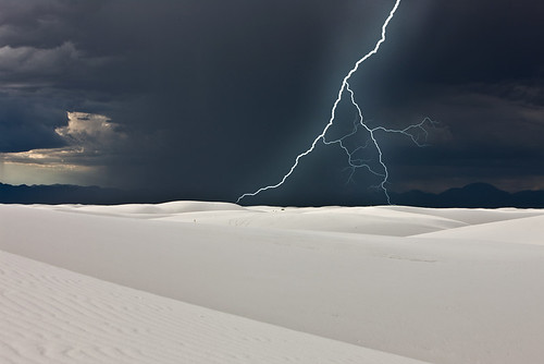 Storm in White Sands, New Mexico