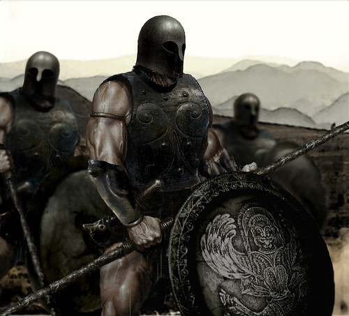 Greek hoplites,Second Messenian war, Spartan