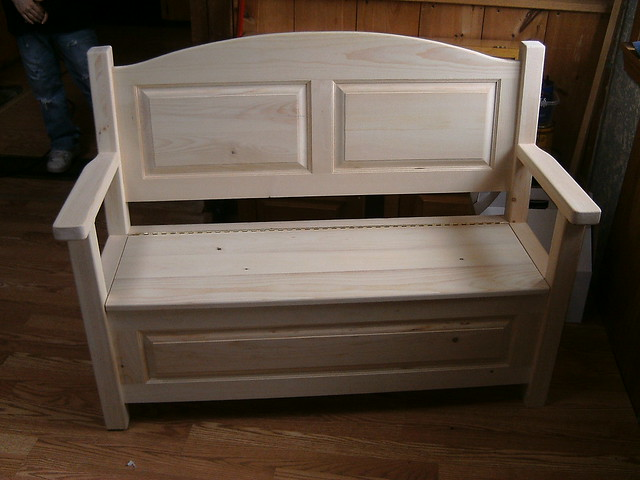 Unfinished Pine Storage Bench Flickr Photo Sharing